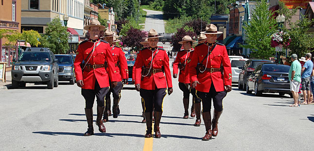 All decked out in their finest red serge uniforms, Canada's finest led the parade. David F. Rooney photo