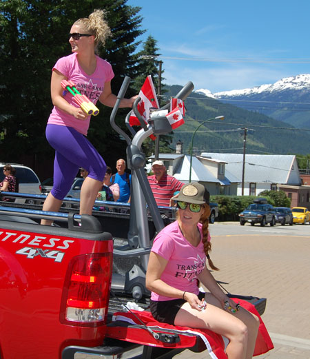 These young and athletic-looking young ladies from Trans Canada Fitness used the parade to keep in shape. David F. Rooney photo
