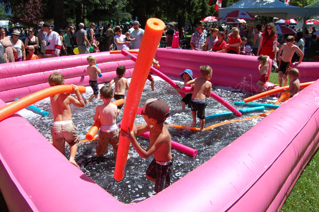 Hot weather for kids almost always means access to a pool and foamies. These young guys and gals has a great time staying cool! David F. Rooney photo