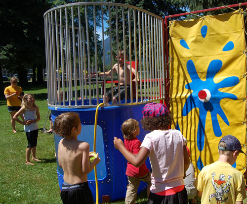 And then there was a dunk tank... need we say more? David F. Rooney photo