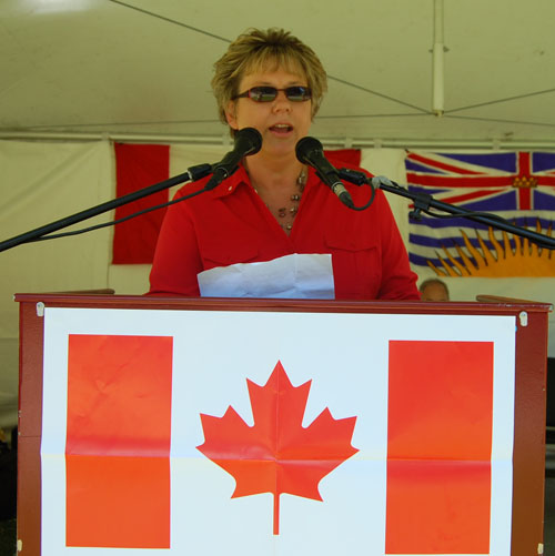 Citizen of the Year Linda Chell talked about the way community is built and maintained in Revelstoke. David F. Rooney photo