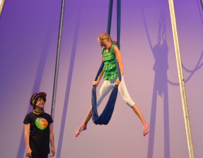 Emily MacLeod demonstrated flexibility, grace and balance on the tightrope and the trapeze. Laura Stovel photo