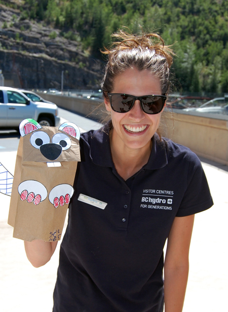 Paper bag puppets, anyone? Liz Craig had a lot of funny with her silly hand puppet. David F. Rooney photo