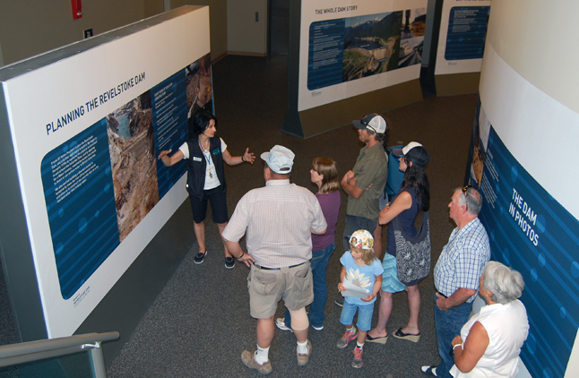 meanwhile, in the cool of the air-conditioned Visitor's Centre, Ornella Humphreys leads a group of visitors on a tour of the Centre's very interesting museum. David F. Rooney photo