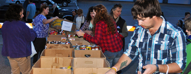 The Fourth Annual Emergency Services Fight Back Against Hunger Community Food Drive will be held on September 17 and 18 between 6 pm and 8 pm this year. Organizer Krista Carnegie is once again looking for groups and individuals willing to help with this, the largest food drive of the year. Revelstoke Current file photo