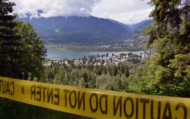 The Nels Nelsen ski jump area is closed until July 25.  Jeff Bolingbroke/Parks Canada photo