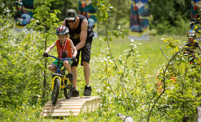 Parks Day will see a return of the kid's bike park obstacle course which was a great hit at the Take a Kid Mountain Biking event last month. Steve Shannon photo courtesy of Parks Canada
