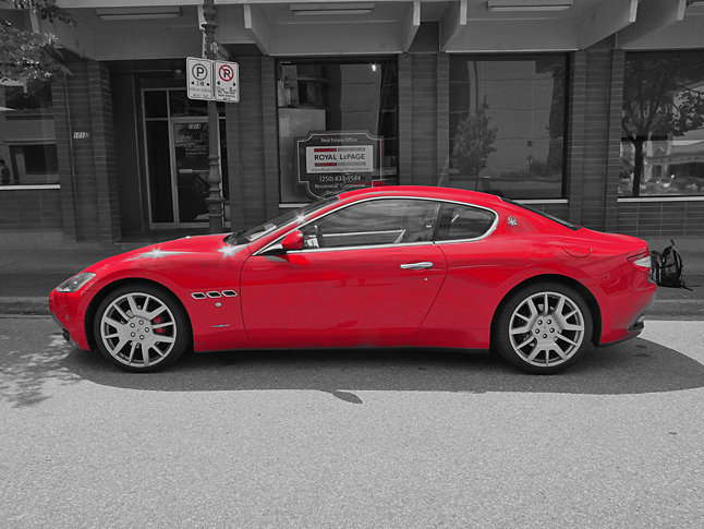 And finally he captured an image of this very Maserati sports car. Isn't she a sexy beast? How many times a a year do you think you'll see one of these babies parked on Second Street East? Bob Gardali photo