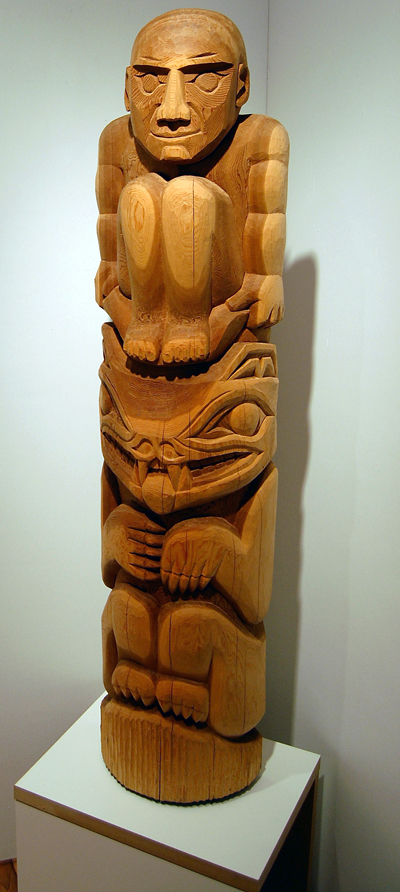 Spirit Bear by Andrew Stacey cedar Please click on the file below to read about this sculpture