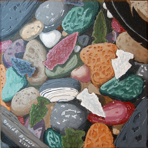 If Stones Could Speak by David F. Rooney acrylic on canvas