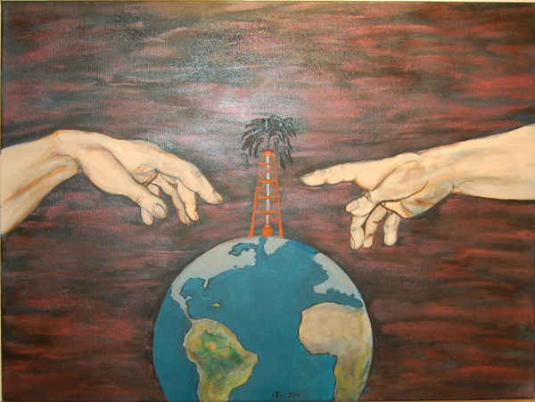 The Quest for Profit At Any Price By Rob Wilson acrylic on canvas
