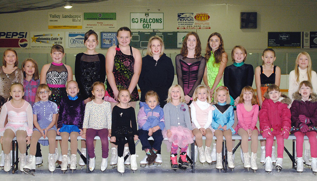 A few members of the Nakusp Figure Skating Club, which may have to close if it can't find a coach for the upcoming season. Photo courtesy of the Nakusp Figure Skating Club