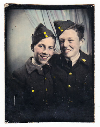 """Burchinshaw (left) will be joined by some of his former air cadet buddies, like Jack McMahon (right), at this Homecoming. """"He was my best buddy,"""" he said. """"He still is."""" Photo courtesy of Bob Burchinshaw"""