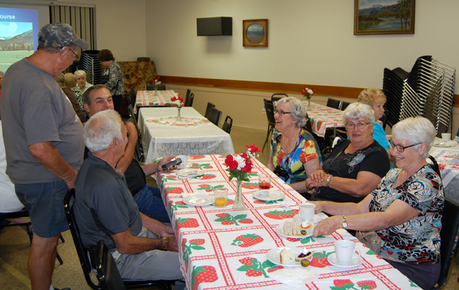 Friends met and yakked up a storm at the Social Tea held at the Seniors' Centre on Friday afternoon. David F. Rooney photo
