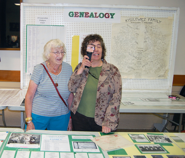 """Gertie Smith and Rosemary Tracy sleuthed out secrets of their families' past. Geneology is a pastime that many people enjoy. """"It tells you who you are and where you came from,"""" Gertie said. David F. Rooney photo"""