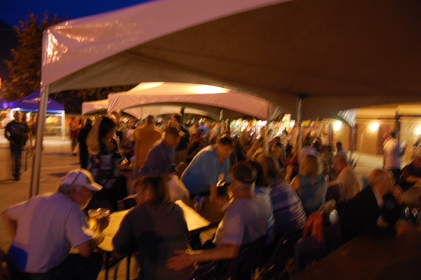 The Rotary Club beer garden saw a lot of action on Friday evening. No doubt many of the people in this image were feeling a tad blurry. David F. Rooney photo