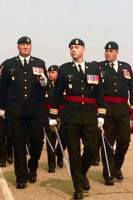 CFB EDMONTON — Stalker, flanked by two subordinates. Christina Van Goor photo