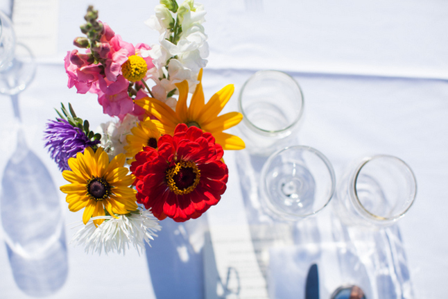 Flowers were a lovely touch to the annual Midsummer Night's Green dinner, held this year at Terra Firma Farms. Photo courtesy of Rachel Ediger/Whitehart Photo