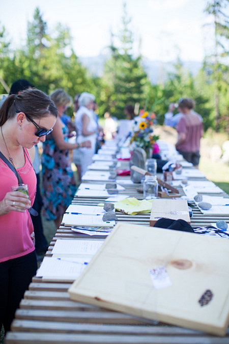 There was a tremendous selection of items to choose from at the silent auction, which was supported by many local businesses and artists. Photo courtesy of Rachel Ediger/Whitehart Photo