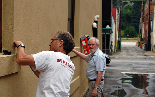BEES directors Ken Jones and David Evans first made sure that they had everything on the level. David F. Rooney photo