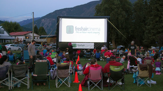 After the run, hundreds of families converged on the park for the Credit Union's free fresh-air screening of the Walt Disney movie, Frozen. David F. Rooney photo