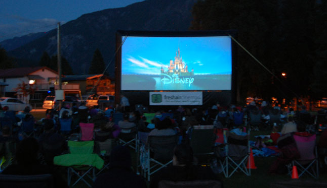 Then, once the sun well and truly dropped away, the sky darkened and everyone settled in for the flick. Many thanks to the Revelstoke Credit Union for sponsoring these two community events. David F. Rooney photo