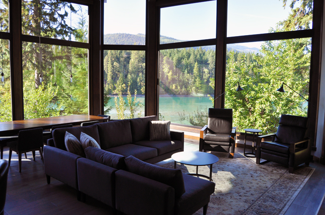 """… As you can clearly see. Those triple-pane windows weight 800 lbs each. """"It doesn't matter what the season or the weather are like,"""" Peter said. """"The view is always magnificent."""" David F. Rooney photo"""