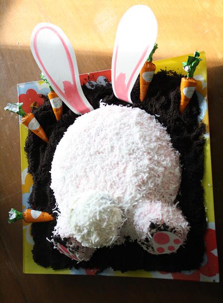 Arleigh Garratt's Bunny Bum cake won second prize in the contest. Arleigh Garratt photo courtesy of Big Mountain Kitchen & Linen