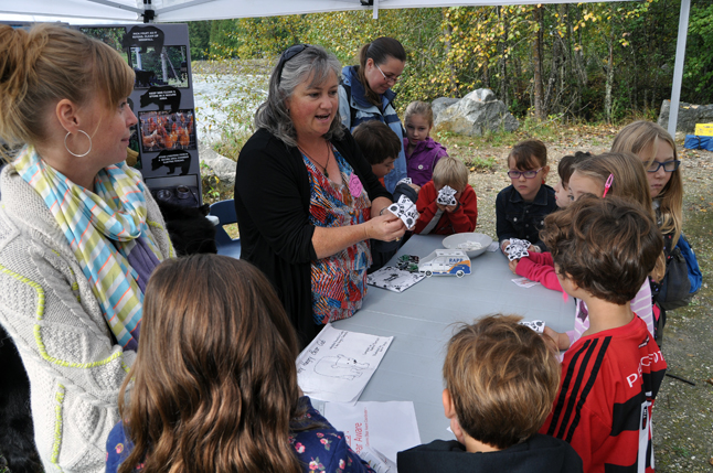 WildSafeBC and Revelstoke Bear Aware Coordinator Sue Davies makes learning about our relationship with wild animals fun. David F. Rooney photo