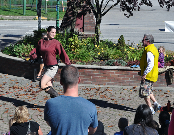 Catch me if you can! Miranda dares Leon to catch her. David F. Rooney photo