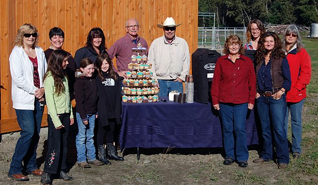 Selkirk Saddle Club members and board directors pose for a group photo during the arena's opening. David F. Rooney photo
