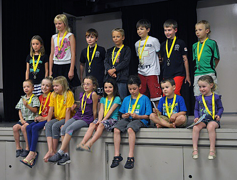 Everyone got a medal. Photo courtesy of the Revelstoke Branch of the Okanagan Regional Library