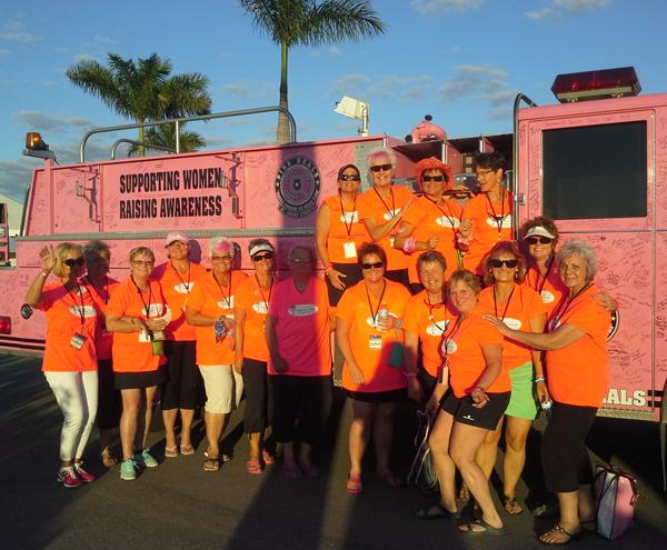SARASOTA, Florida — Ginger (third from the left) poses with Spirit Warriors from Kamloops after racing in Sarasota. Karen Lofgren photo