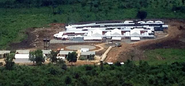 This is a recent ebola treatment centre built by Médecins Sans Frontières. Photo courtesy of Médecins Sans Frontières