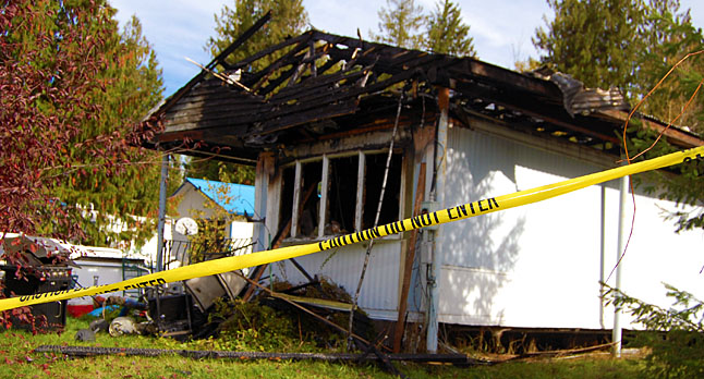 Here's another view of the house where the fatal fire occurred. David F. Rooney photo