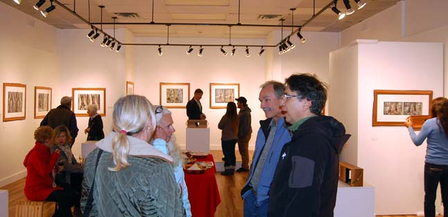 More than 100 art lovers turned out for the Revelstoke Art Gallery's latest set of exhibitions on Friday, October 3. The shows include Kip Wiley's photographs in Sense of Time, Jennefer Rogers Myriad-Myth Conceptions, Donna Naprstek's Light and Shadow and Theresa Browning's first-ever show, Only Natural. David F. Rooney photo