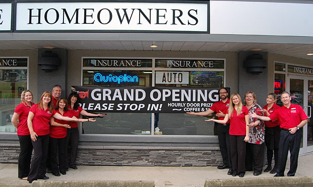Staff at the Revelstoke Credit Union Insurance offices staged their grand opening on Friday and invited everyone in town to come by and see what they had to offer. David F. Rooney photo