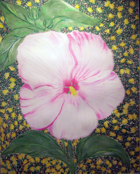 Rose Mallow By Theresa Browning Pastel