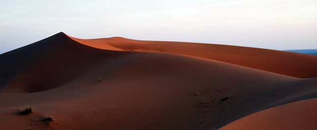 Come let Food Editor Leslie Savage guide you on an exploration of Moroccan cuisine. This image shows you Dunes in the Moroccan Sahara Desert. Leslie Savage photo