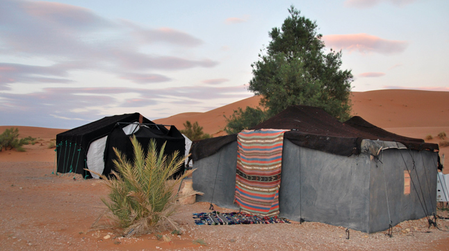 My Berber tent in the desert. We trekked in by camel. Leslie Savage photo
