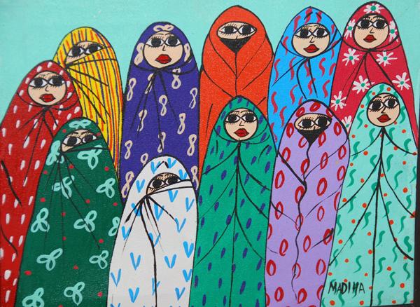 Moroccan folk art. Leslie Savage photo