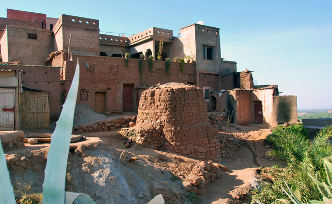 This is the Riad Omar Kayam, where we stayed in the mountains. The rooftop views were spectacular. Leslie Savage photo