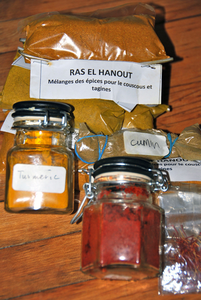 My stash of spices from Morocco. Leslie Savage photo
