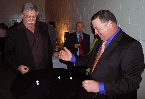 Can Dale Morehouse beat the house, represented here by incumbent Councillor Gary Starling? David F. Rooney photo