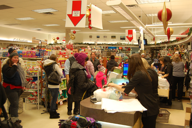 Pharmasave was awash in shoppers. David F. Rooney photo
