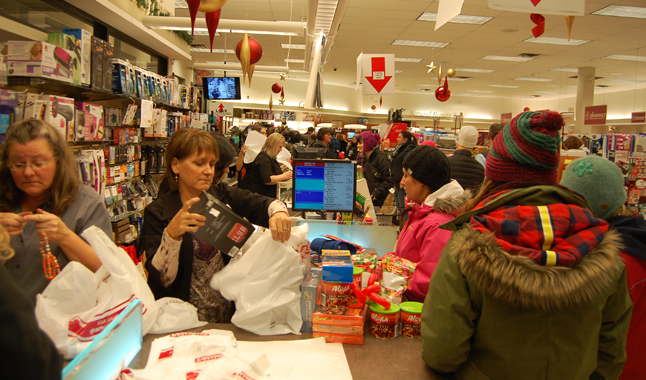 And all those shoppers kept counter staff hopping. David F. Rooney photo