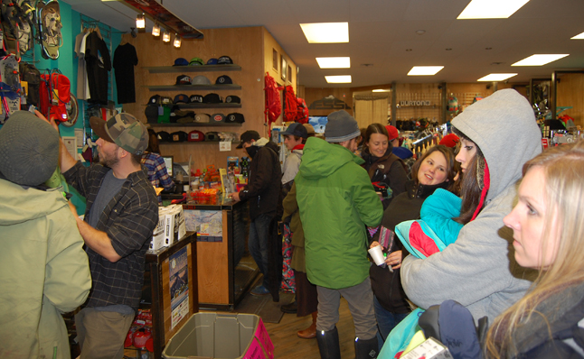 Free Spirit Sports was over-run by people looking for bargains on sports wear and gear. David F. Rooney photo