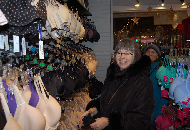 Many members of the fair sex, like Laura Rooney, flocked to Bette's Underthings and Clothing for, well, some tasteful unmentionables. David F. Rooney photo