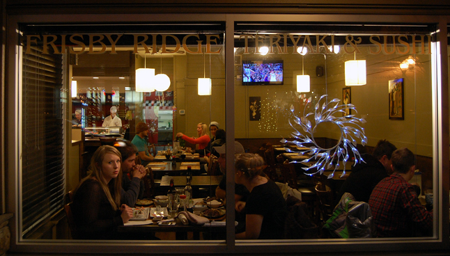 And if you needed a break from all that shopping you could grab a bite to eat at any of the city's downtown restaurants, like Frisby Ridge. David F. Rooney photo