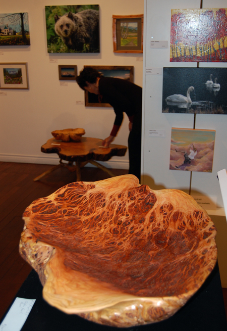 If you wanted some amazing art, like this hand-carved burl by Rod Aspeslet, then ArtFirst! was a must-stop-and-shop. David F. Rooney photo